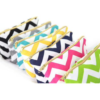 Chevron Makeup Bag
