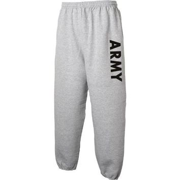 ARMY Sweat Pants - Military Style Physical Training Sweat Pants in Gray