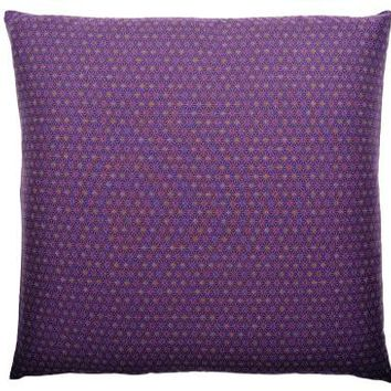 J-Life Asa No Ha Purple #3 Zabuton Floor Pillow