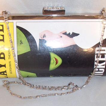 Handmade real broadway playbill clutch Wicked Pippin Its Only a Play Book of Mormon Gentleman's Guide