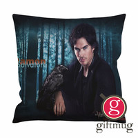 The Vampire Diaries Damon Salvatore Cushion Case / Pillow Case