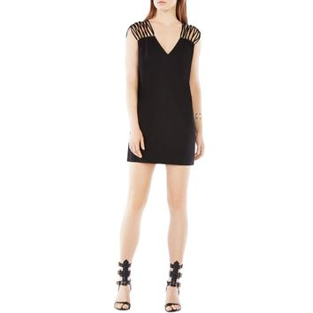 BCBG Max Azria Womens Arielle Embellished Strappy Cocktail Dress