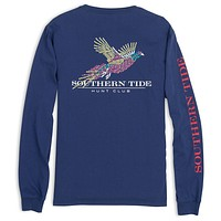 Hunt Club Long Sleeve Tee in Twillight Blue by Southern Tide