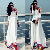 Sexy Women long sleeves Dress printing flower dress Club Evening Cocktail Party Dress Christmas Sexy Print Club Dress