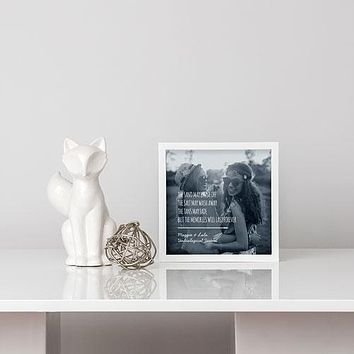 Shadow Box Photo Frame - Beach Memories Etching White (Pack of 1)