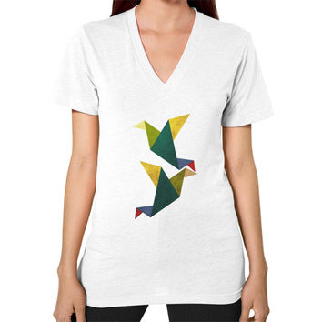 Cute Origami V-Neck (on woman)