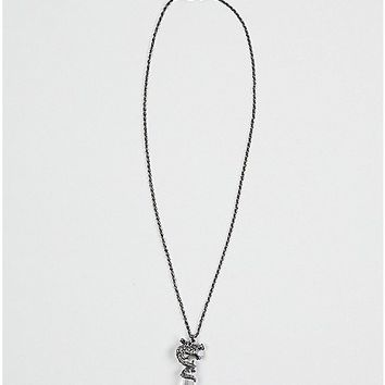 Dragon Wrapped Crystal Necklace - Spencer's
