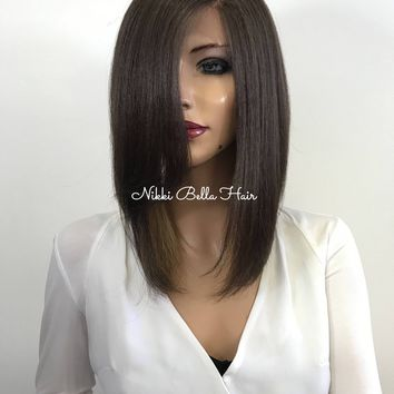 Brown Ombre Short Lace Front Wig 1185 ON SALE