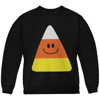 Halloween Candy Corn Costume Black Youth Sweatshirt