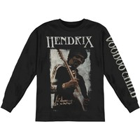 Jimi Hendrix Men's  Voodoo Child L/S  Long Sleeve Black