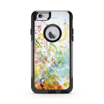 Digital Fall Colored Music Notes Skin for the Apple iPhone Otterbox Commuter Case