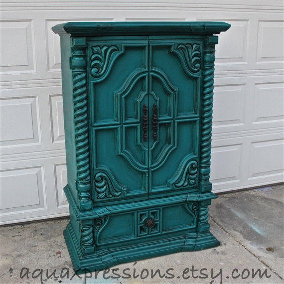 Distressed Bedroom Sets Bedroom Cupboards With Mirror Sliding Doors Bedroom Colour As Per Vastu Shabby Chic Bedroom Sets: Vintage Armoire /Gypsy Teal / Bedroom From AquaXpressions