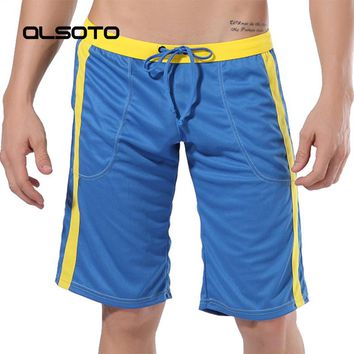 ALSOTO Summer Man Shorts sexy Mens Board Joggers Tracksuit Quick-drying Short Pants Solid color male Beach Shorts