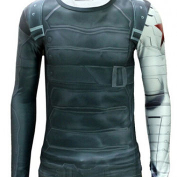 MARVEL's Captain America - Winter Soldier Bucky Barnes Long Sleeve