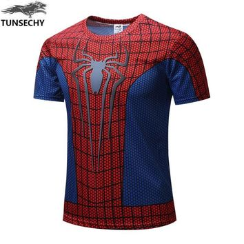 New 2016 Batman Spiderman Ironman Superman Captain America Winter soldier Marvel T shirt Avengers Costume Comics Superhero mens
