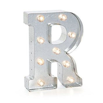 """Darice Silver Metal Marquee Letter 9.875""""-R"""