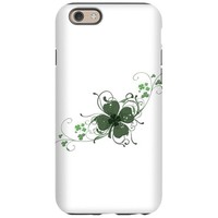 Elegant Shamrock Design iPhone 6/6s Tough Case on CafePress.com