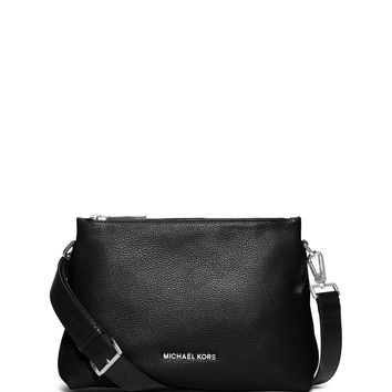 Jane Medium Leather Messenger Bag, Black - MICHAEL Michael Kors