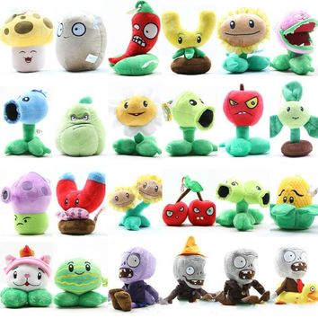 27 Style Plants Vs Zombies Plush Plants Stuffed Soft PP Cotton Peas Cherries Vegetables Fruits Plush Toys for Kids Girls Gifts