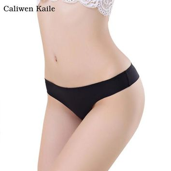 DKF4S Hot Women Invisible Sexy Panties G-Strings Thongs Cotton Spandex Seamless Low Waist Crotch T-Back Briefs Underwear New Fashion