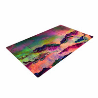 "Ebi Emporium ""It's A Rose Colored Life 3"" Magenta Orange Woven Area Rug"