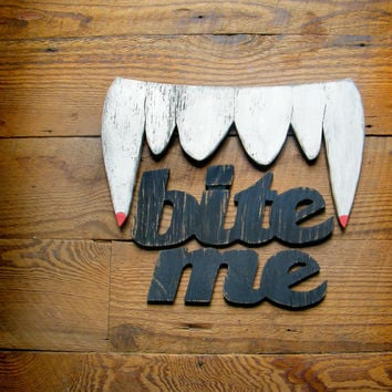 Vampire Fangs Sign Teeth Halloween Decoration Party Decor