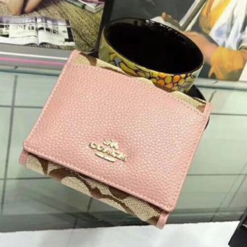 Coach New Fashion Women Wallet Pink