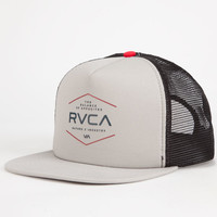 Rvca Industrial Mens Trucker Hat Gray One Size For Men 25474911501