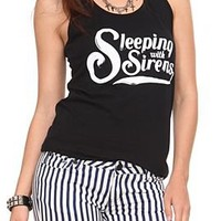 Sleeping With Sirens Script Girls Tank Top - 10003820