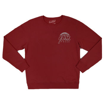 Global Posse II, Crew Neck Sweater (Maroon)