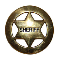 Sheriff Belt Buckle - Brass