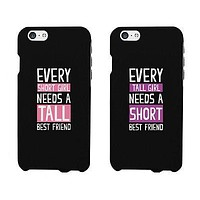 Short And Tall Cute BFF Mathing Phone Cases For Best Friends Gift