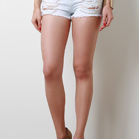 Chain Link Distress Shorts