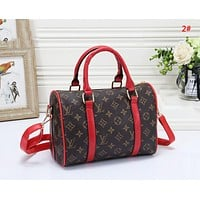 LV Louis Vuitton New fashion monogram print shoulder bag handbag women 2#