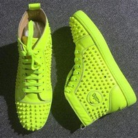 PEAPUX5 Cl Christian Louboutin Louis Spikes Style #1894 Sneakers Fashion Shoes