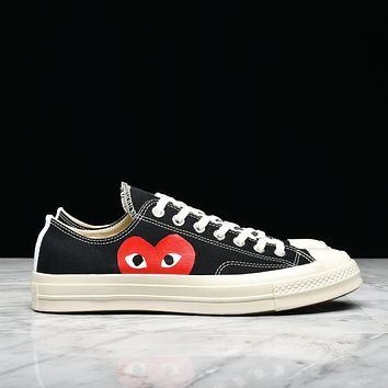 CDG PLAY x CONVERSE CHUCK TAYLOR ALL STAR '70 OXBLACK