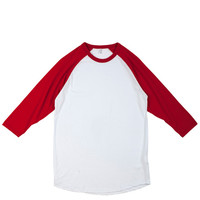 Tees - Raglan - City LAB 3/4 Sleeve Raglan - White with Red - DTLR -  Down Town Locker Room. Your Fashion, Your Lifestyle!