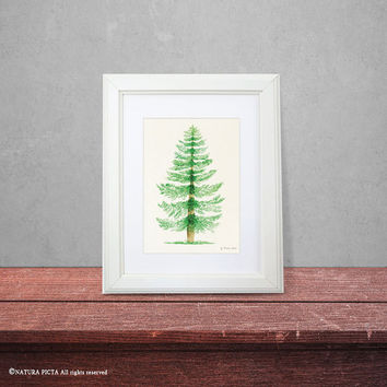 Tree print-watercolor tree print-fall print-autumn print-nature art-tree wall art-botanical print-home decor-print-by NATURA PICTA-NPWP07