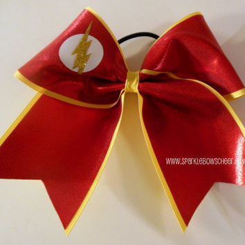 Flash Super Hero Large Cheer Bow Hair Bow Cheerleading