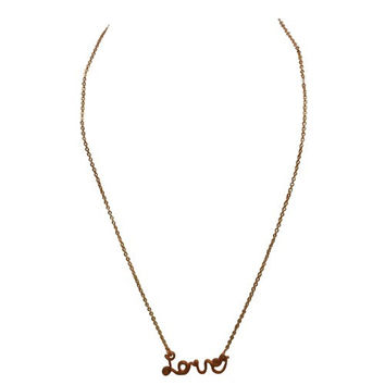 Rose Gold Love Necklace In Cursive
