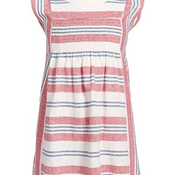 Girl's Tea Collection Stripe Smocked Dress,