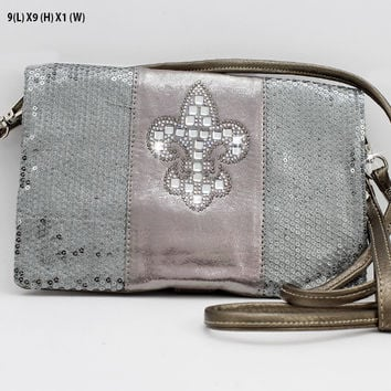 * Cross Body Wallet In Pewter