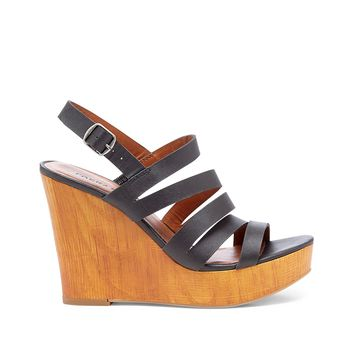 Lucky Brand Larinaa Strappy Leather Wedge