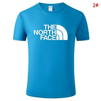 The North Face Summer New Fashion Letter Print Leisure Women Men Top T-Shirt 2#