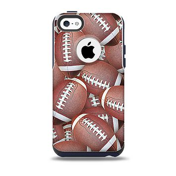 The Football Overlay Skin for the iPhone 5c OtterBox Commuter Case