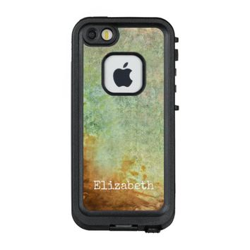 vintage style personalized lifeproof case in teal