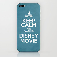 Keep Calm and Watch a Disney Movie iPhone & iPod Skin by -raminik Design- | Society6