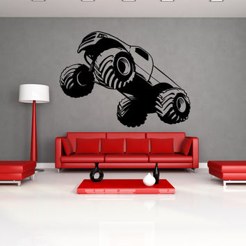 Vinyl Wall Decal Sticker Monster Truck Launch #OS_MB592