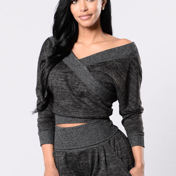 On The Go Top - Black