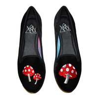Lavish – Trippy Black/Red Flats